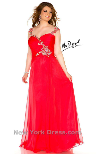 Mac Duggal 64400R Cherry Red