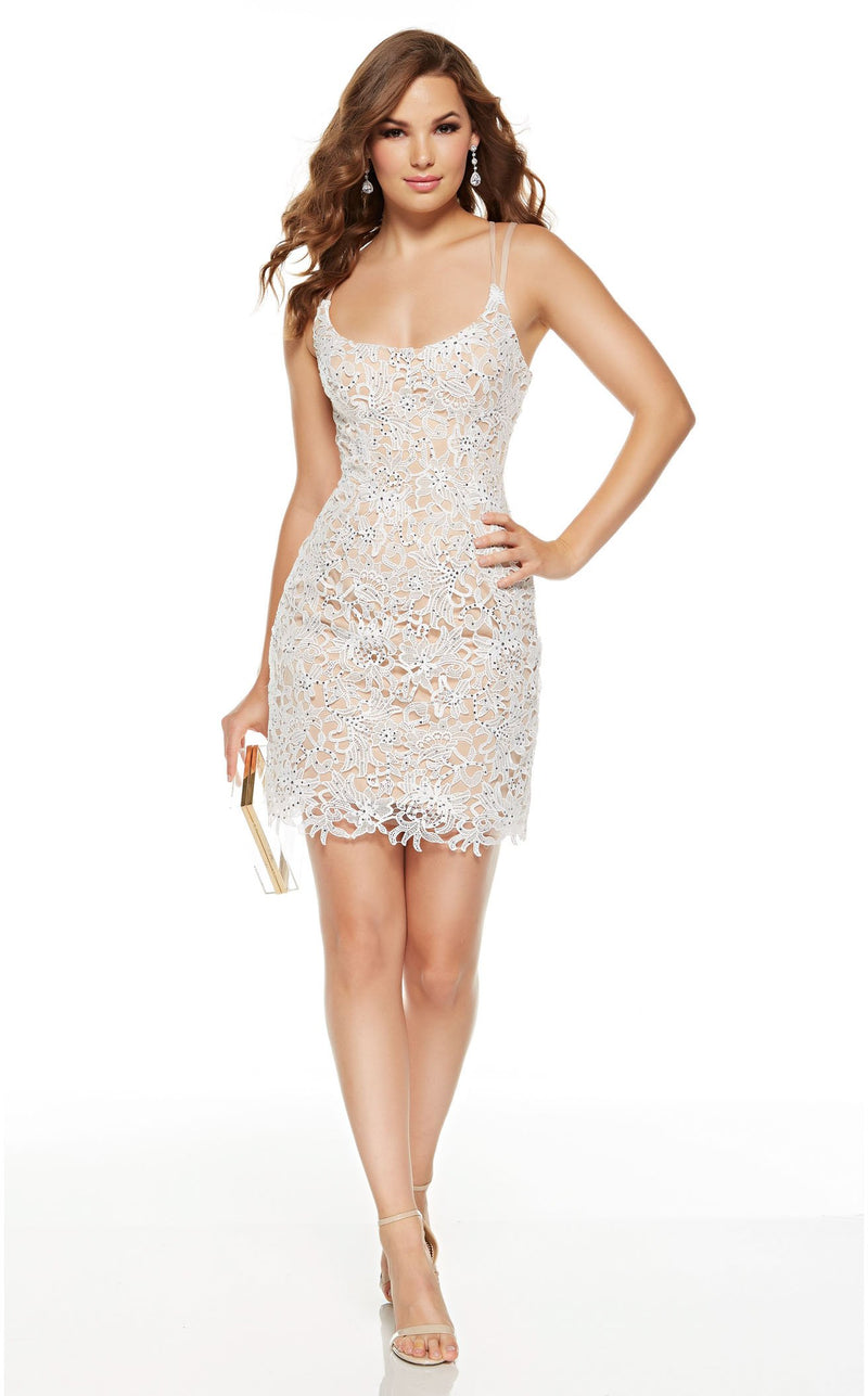 Alyce 4225 Dress Diamond-White-Malibu