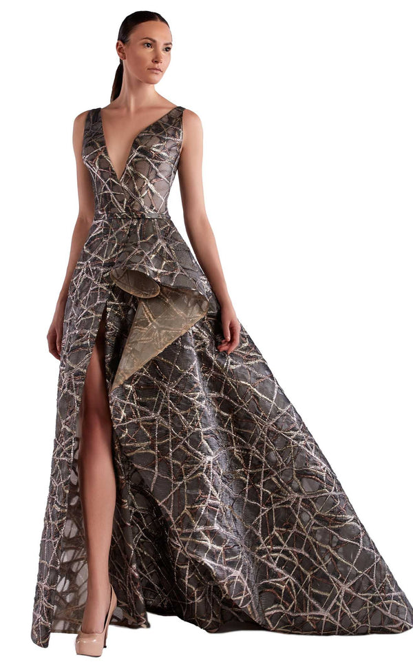 Edward Arsouni Couture SS0468 Dress Grey
