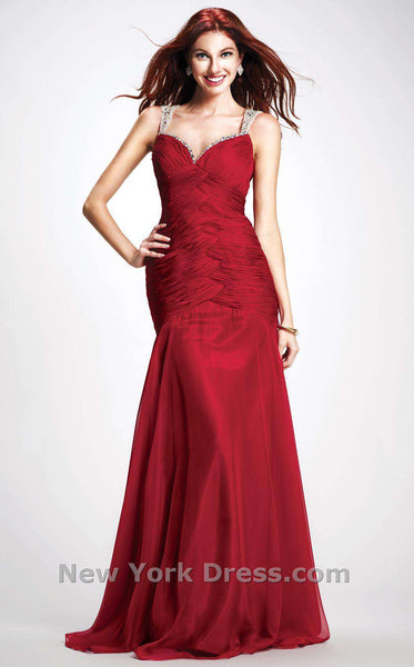 Colors Dress 0703 Burgundy