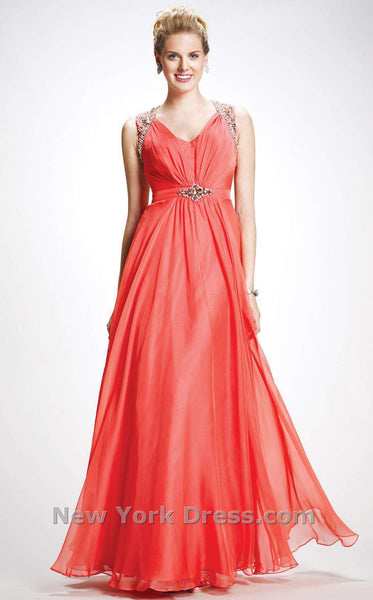 Colors Dress 0755 Coral/Orange