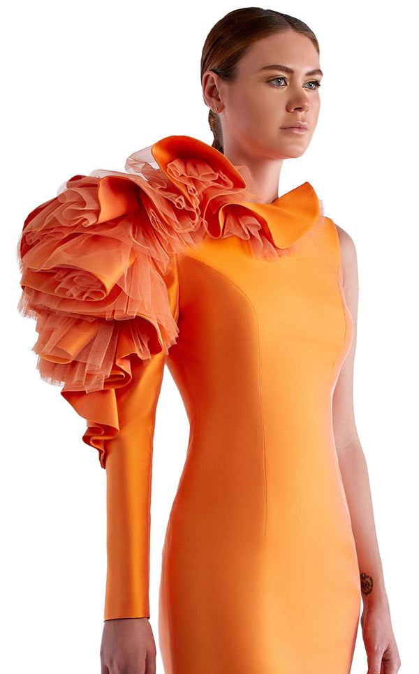 Edward Arsouni Couture SS0484 Dress Orange