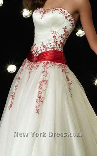 Alyce 6495 Diamond White/Red