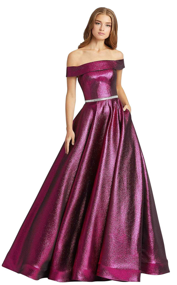 Mac Duggal 48881L Raspberry