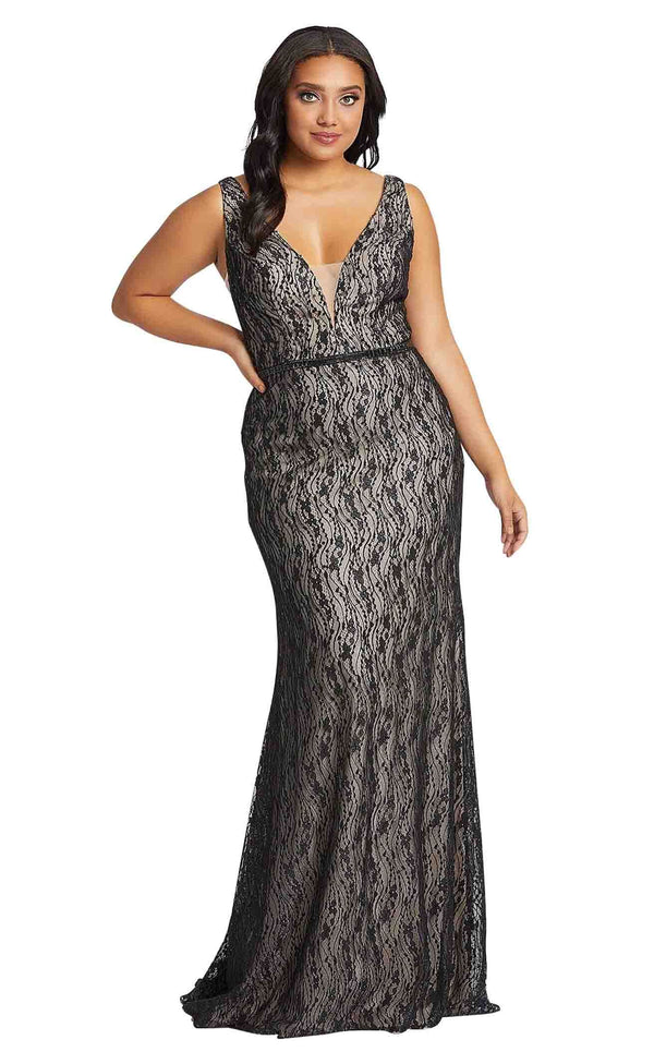 Mac Duggal Fabulouss 48995F Black-Nude