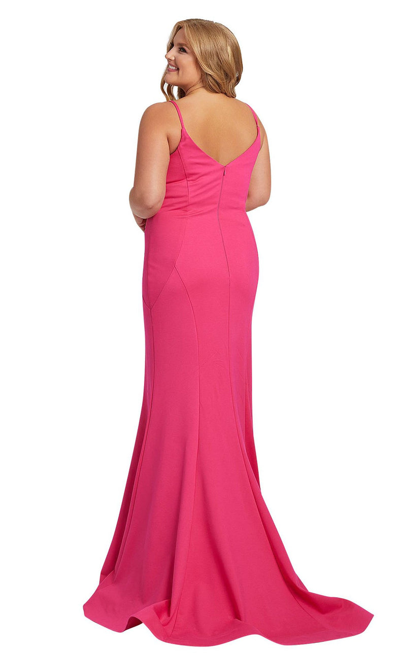 Mac Duggal Fabulouss 48996F Hot-Pink