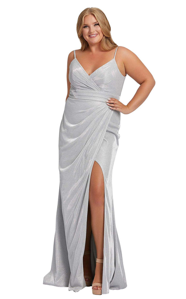 Mac Duggal Fabulouss 49049F Silver
