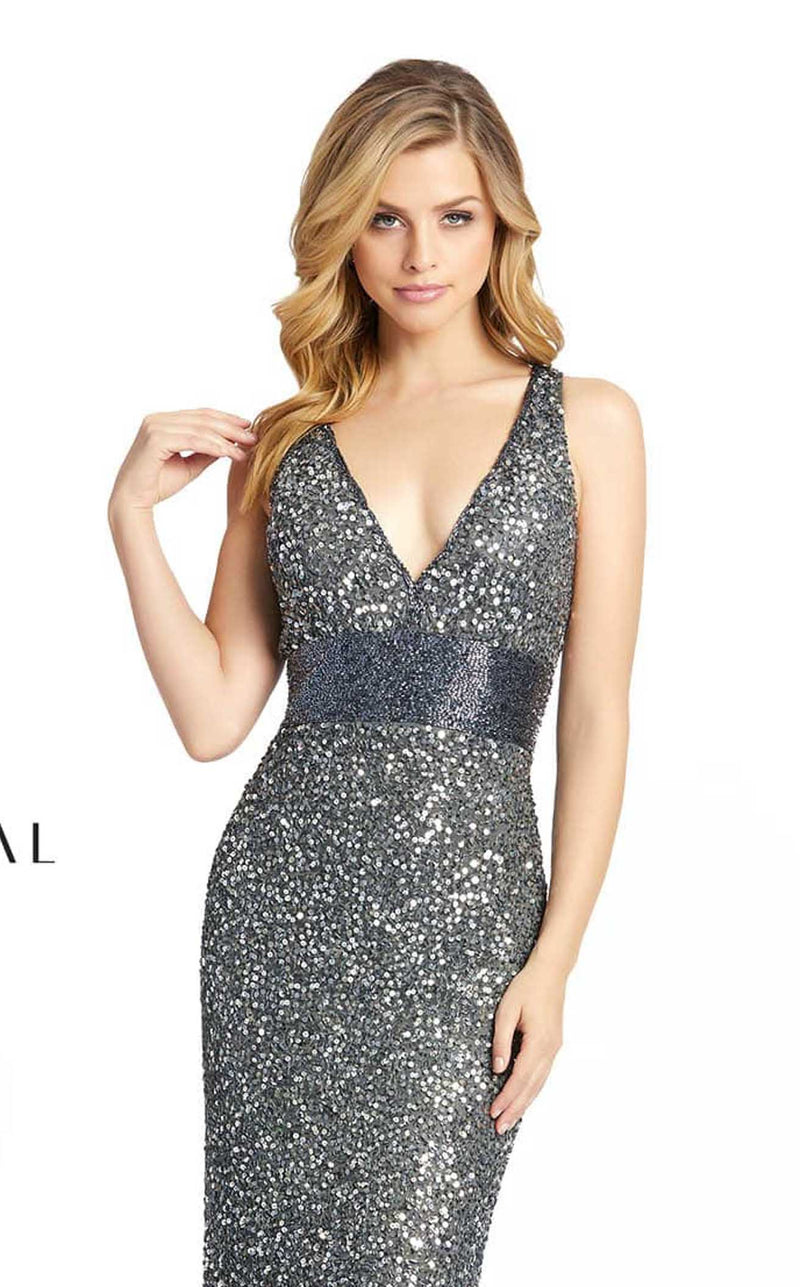 Mac Duggal 4930D Dress Charcoal