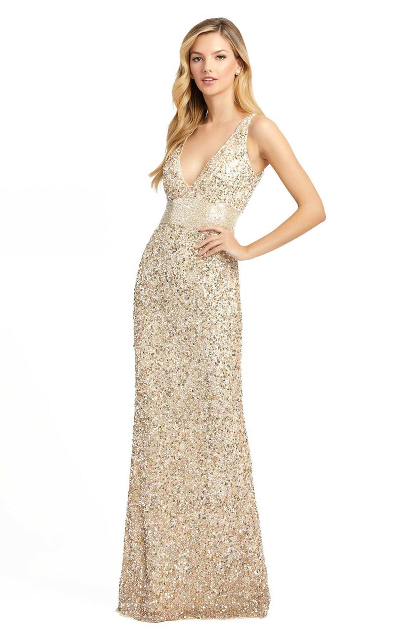 Mac Duggal 4930D Dress Nude-Gold
