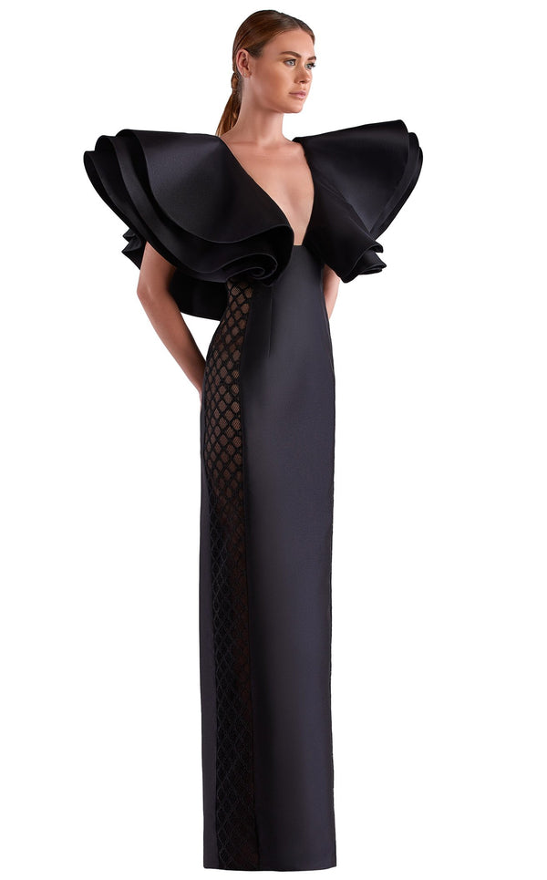 Edward Arsouni Couture SS0495 Dress Black