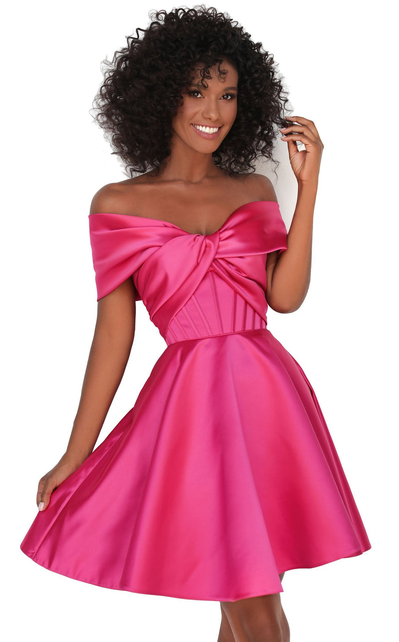 Tarik Ediz 50605 Dress Fuchsia