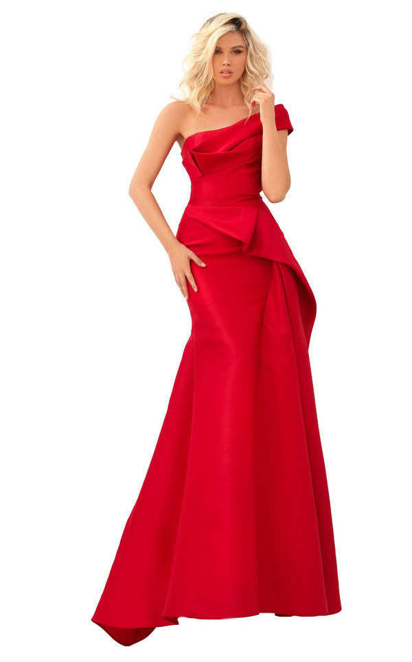 Tarik Ediz 50620 Dress Red