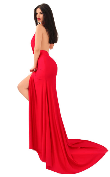 Tarik Ediz 50630 Dress Red