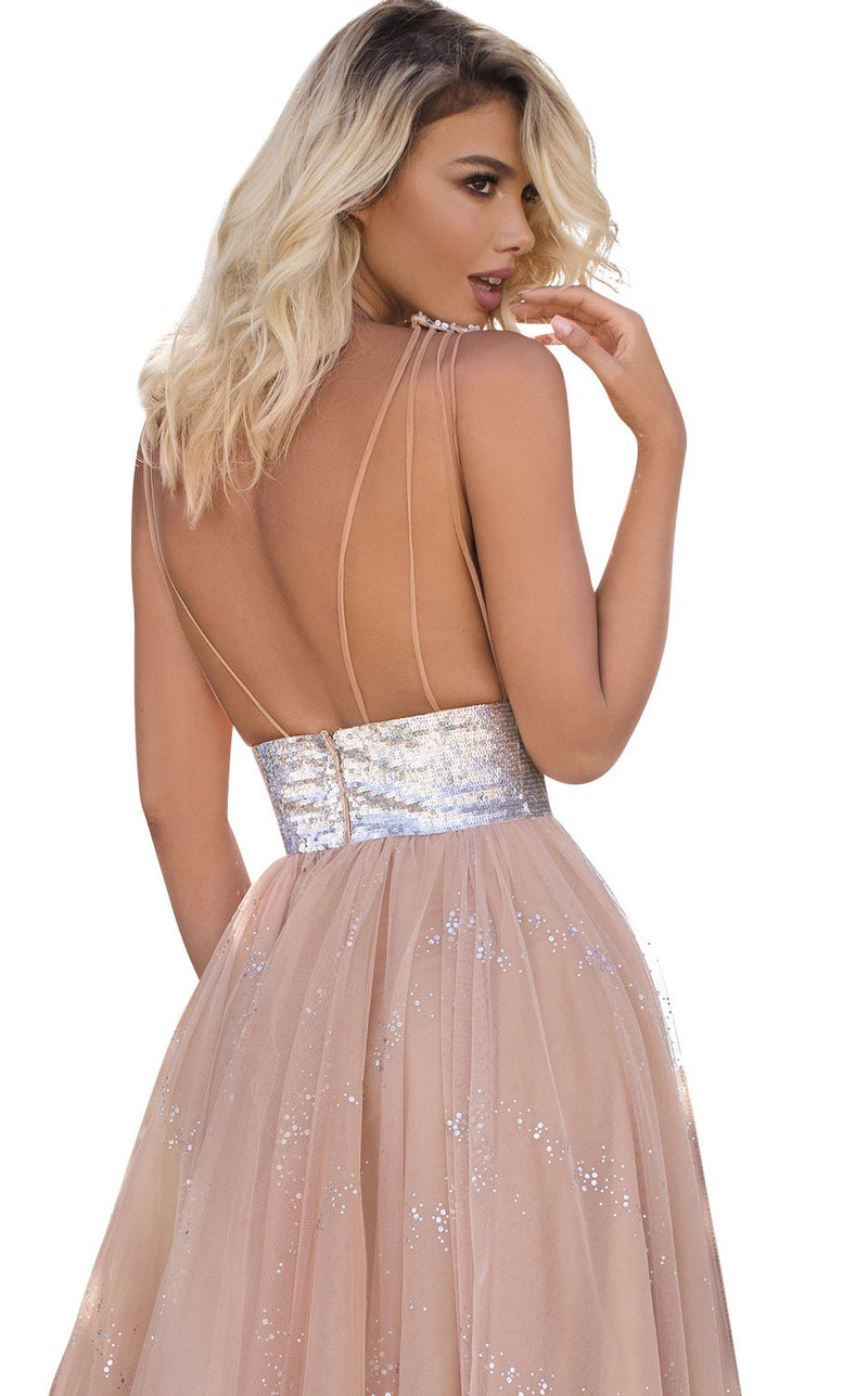 Tarik Ediz 50635 Dress Nude