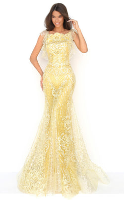 Tarik Ediz 50640 Dress Yellow