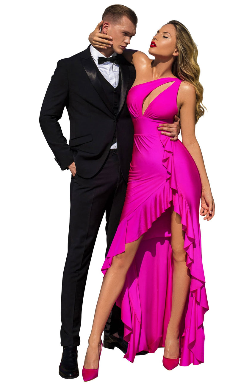 Tarik Ediz 50666 Dress Fuchsia