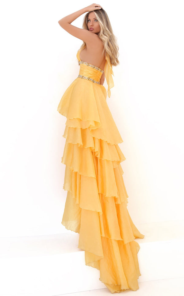 Tarik Ediz 50676 Dress Yellow
