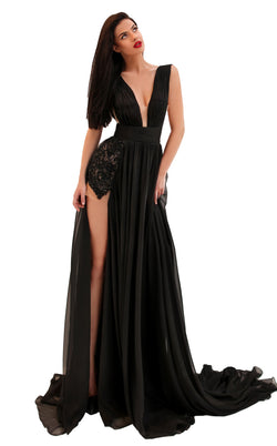 Tarik Ediz 50690 Dress Black