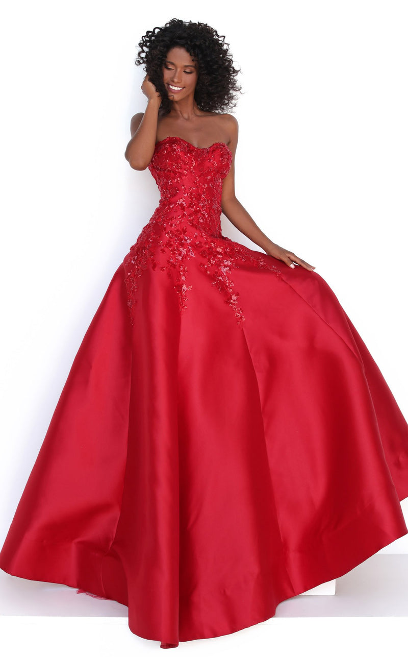 Tarik Ediz 50695 Dress Red