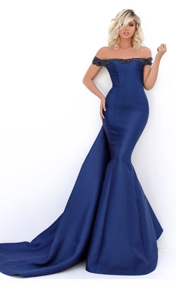 Tarik Ediz 50704 Dress Navy