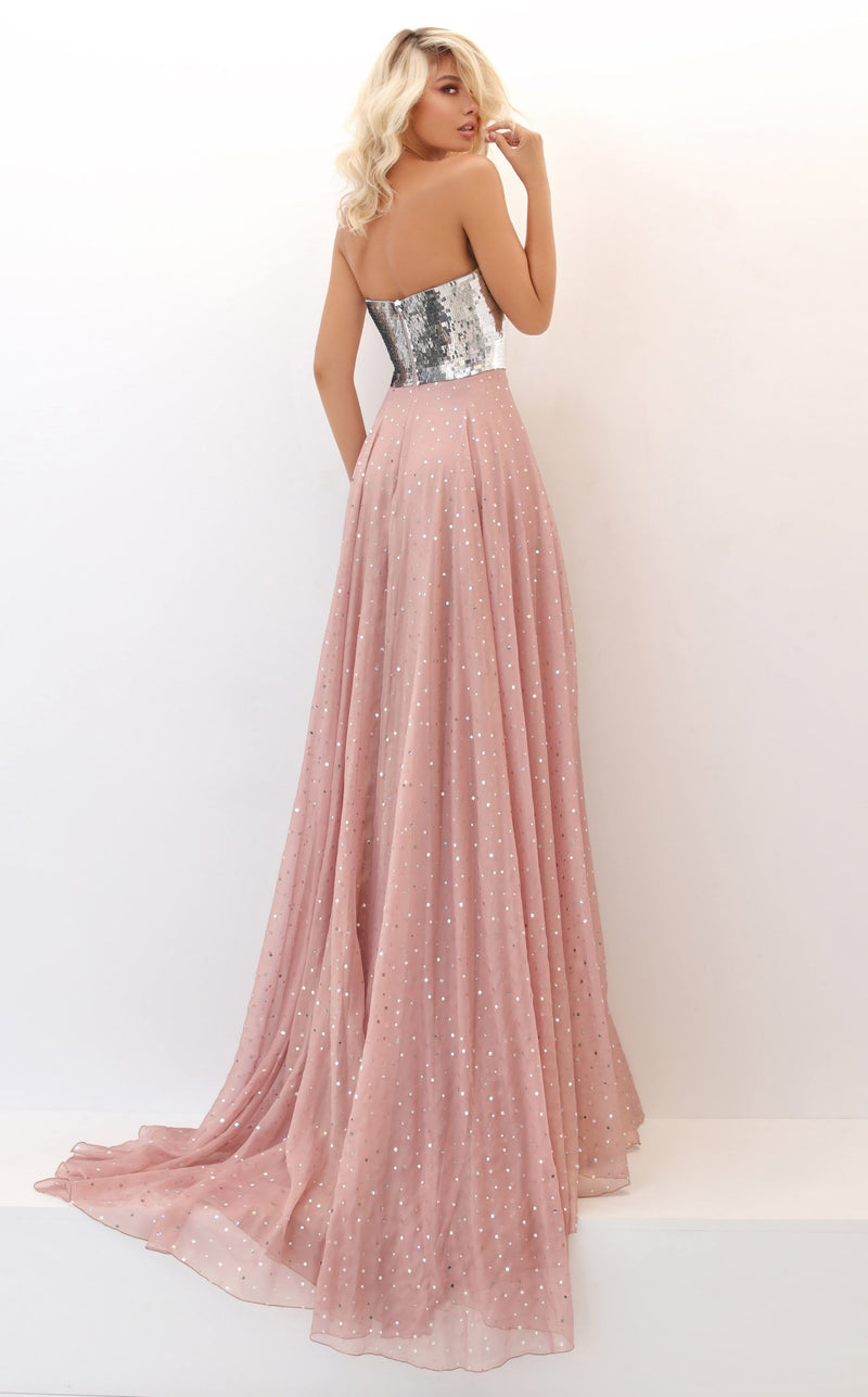 Tarik Ediz 50708 Dress Blush