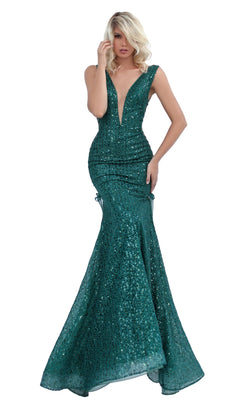 Tarik Ediz 50718 Dress Emerald