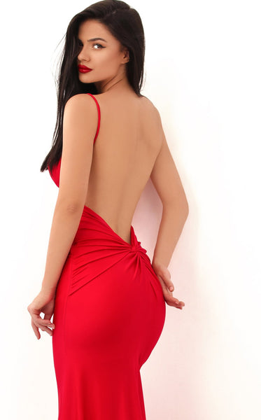 Tarik Ediz 50722 Dress Red