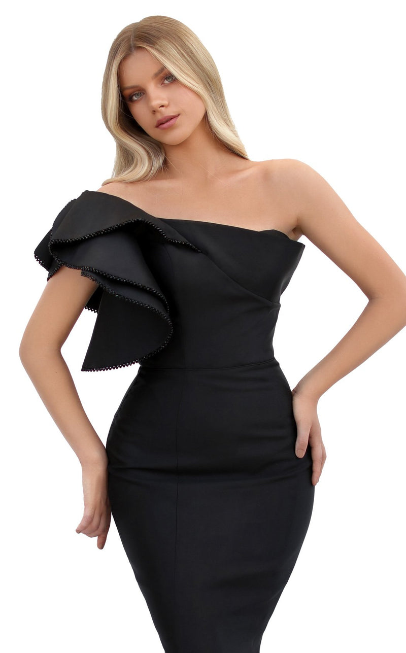 Tarik Ediz 50731 Dress Black