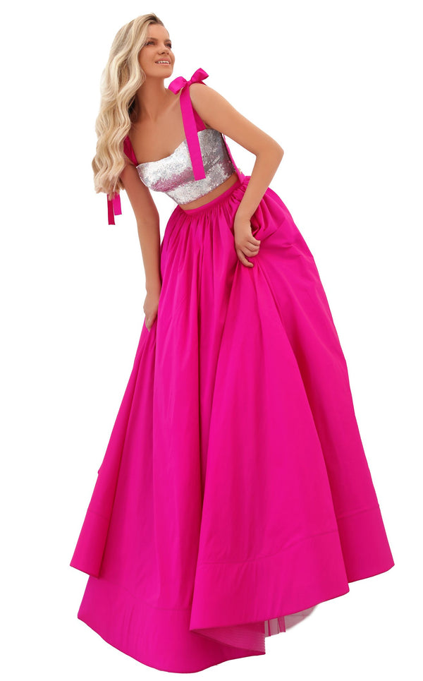 Tarik Ediz 50735 Dress Fuchsia