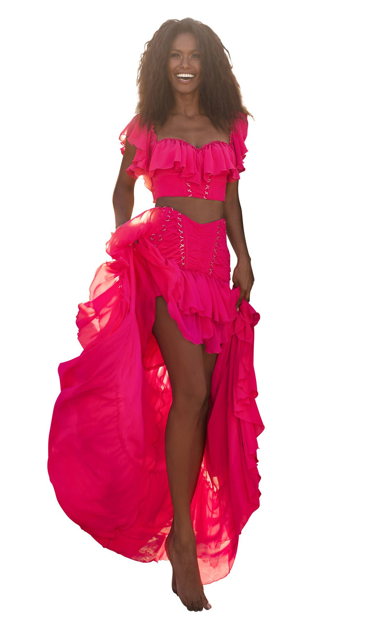 Tarik Ediz 50737 Dress Fuchsia