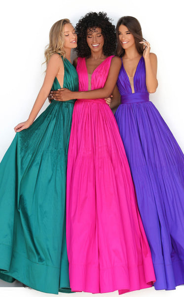 Tarik Ediz 50748 Dress Fuchsia