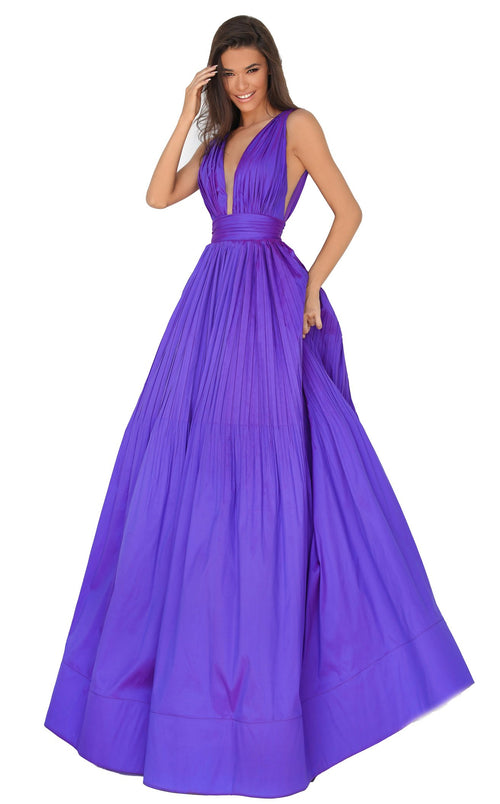 Tarik Ediz 50748 Dress Purple