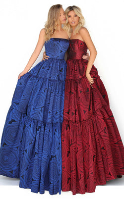Tarik Ediz 50759 Dress Royal-Blue