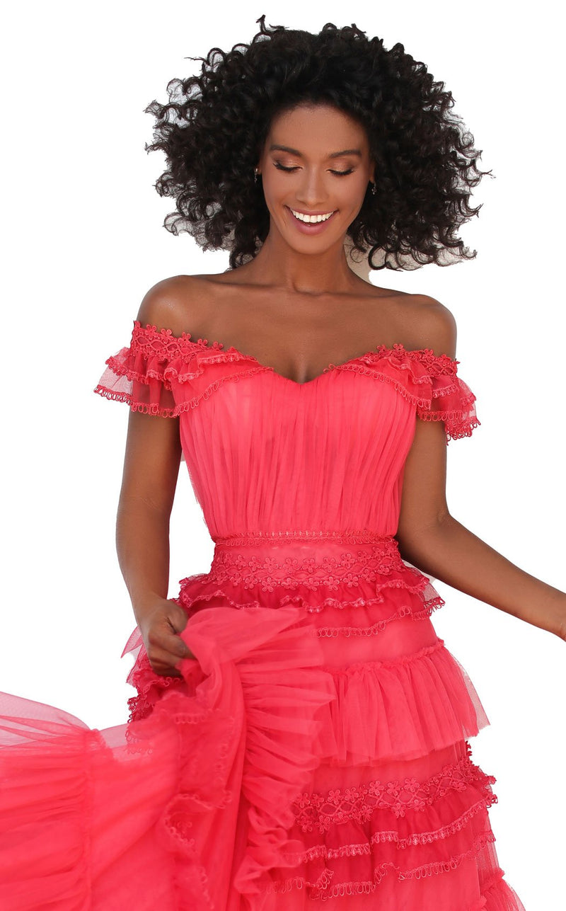 Tarik Ediz 50762 Dress Confetti-Pink
