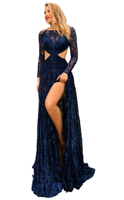 Tarik Ediz 50775 Dress Navy