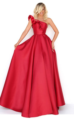 Tarik Ediz 50776 Dress Red