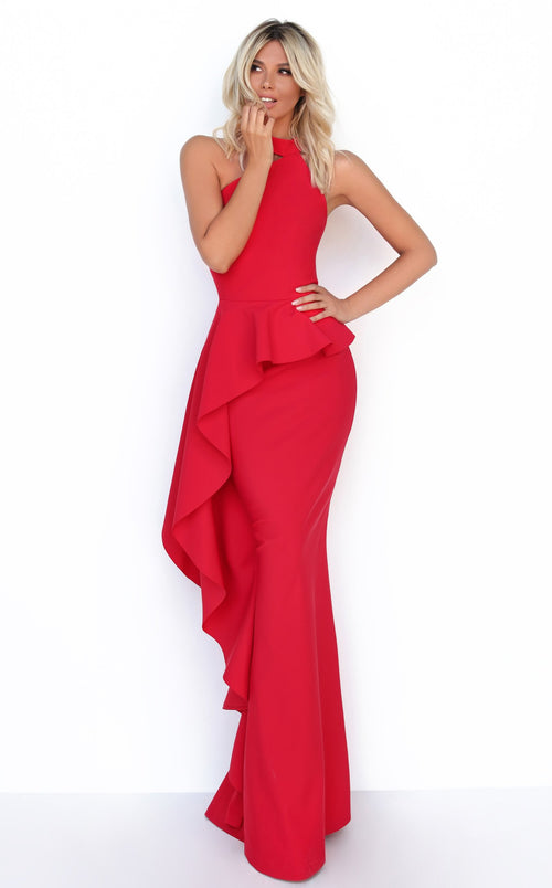 Tarik Ediz 50779 Dress Red