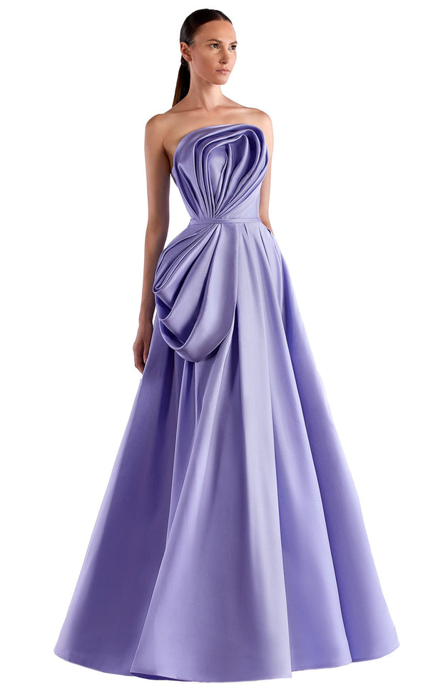 Edward Arsouni Couture SS0507 Dress Lavender