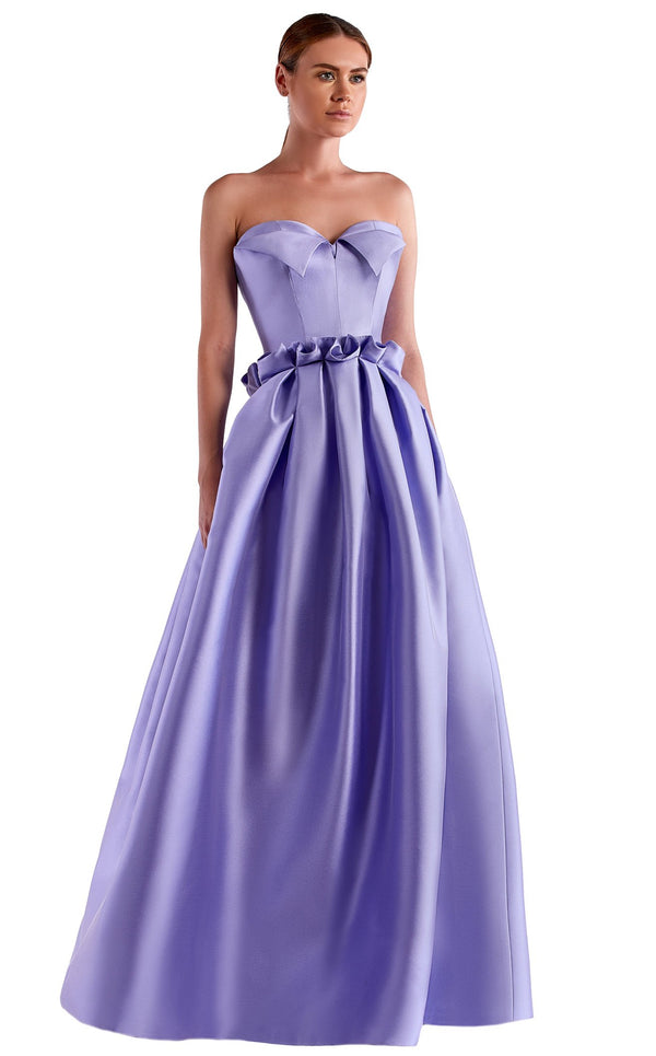 Edward Arsouni Couture SS0508 Dress Lavender