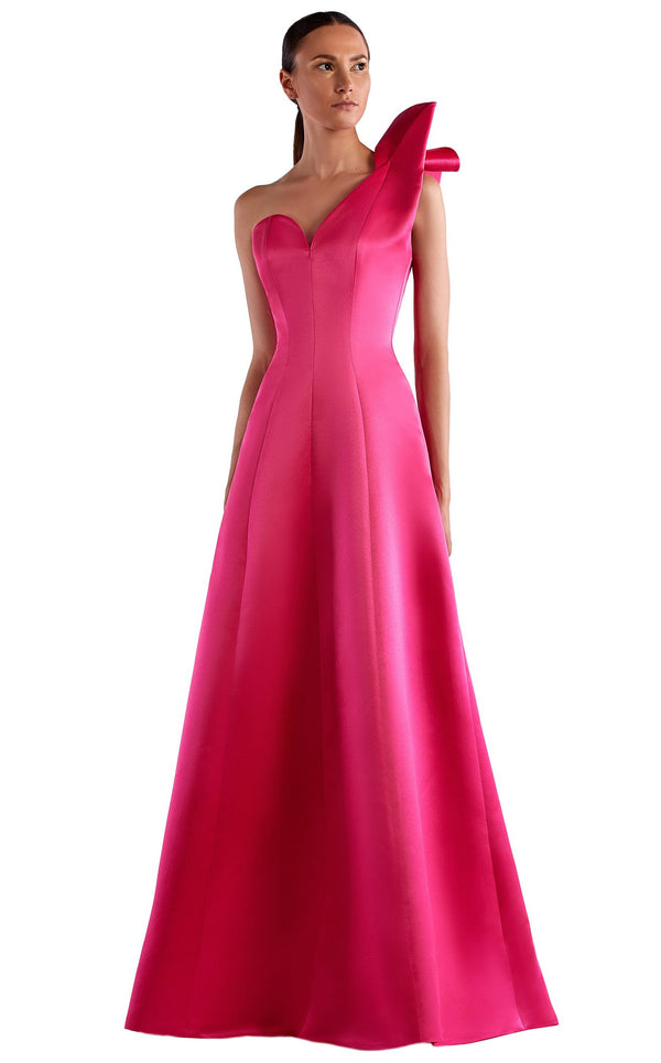 Edward Arsouni Couture SS0511 Dress Fuchsia