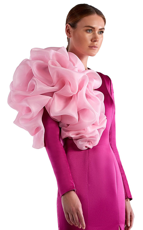 Edward Arsouni Couture SS0514 Dress Fuchsia