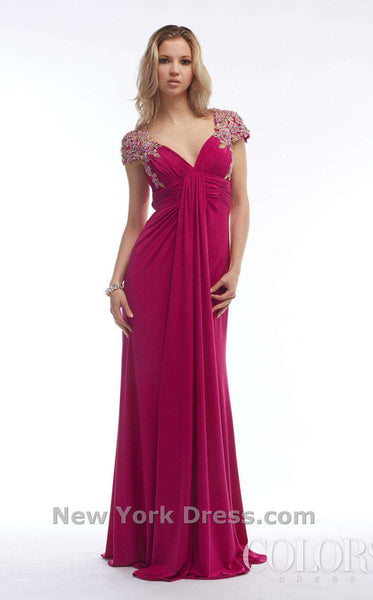 Colors Dress 1107 Raspberry