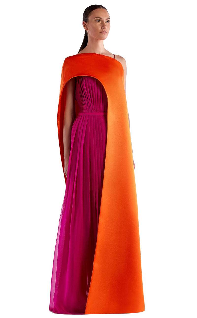 Edward Arsouni Couture SS0515 Dress Fuchsia-Orange