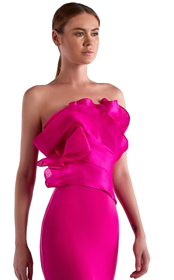 Edward Arsouni Couture SS0516 Dress Fuchsia