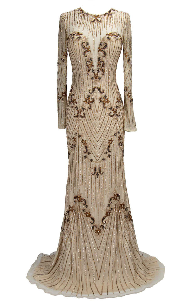 Paul Rekhi 5204 Dress Nude