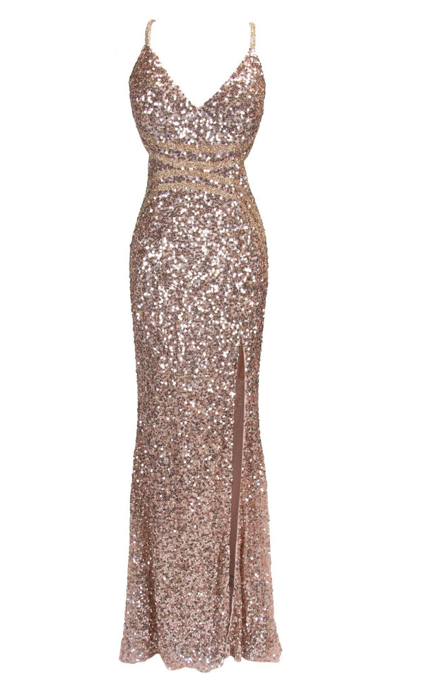 Paul Rekhi 5221 Dress Rose-Gold