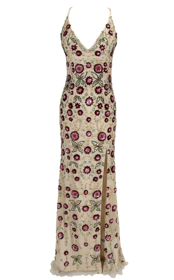 Paul Rekhi 5226 Dress Nude-Multi