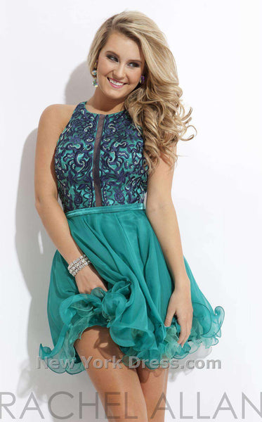 Rachel Allan 2810 Teal/Navy Blue