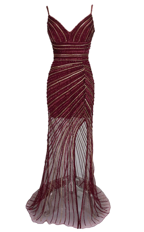 Paul Rekhi 5246 Dress Burgundy
