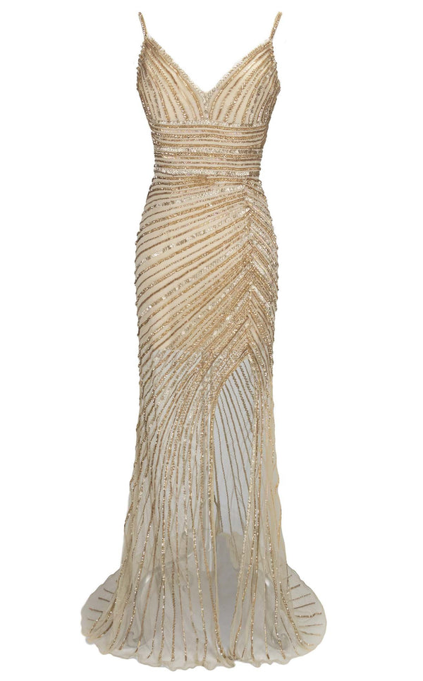 Paul Rekhi 5246 Dress Nude